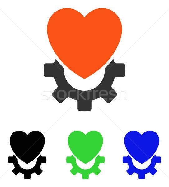 Mécanique coeur vecteur icône illustration style Photo stock © ahasoft