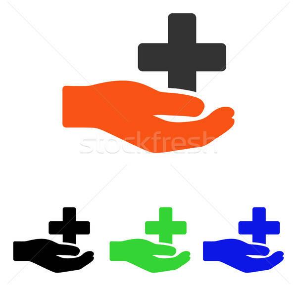 Health Care Donation Flat Vector Icon Stock photo © ahasoft