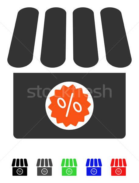 Apteka sprzedaży ikona wektora kolorowy kolor Zdjęcia stock © ahasoft
