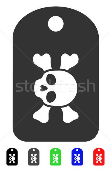 Lijkenhuis icon vector pictogram gekleurd Stockfoto © ahasoft