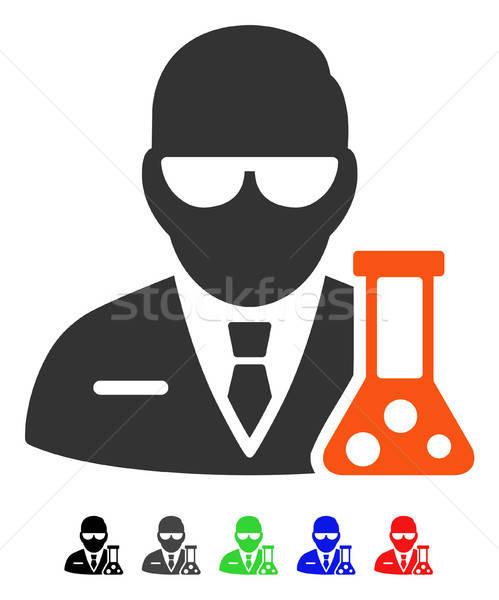 Tudós ikon vektor piktogram színes szín Stock fotó © ahasoft