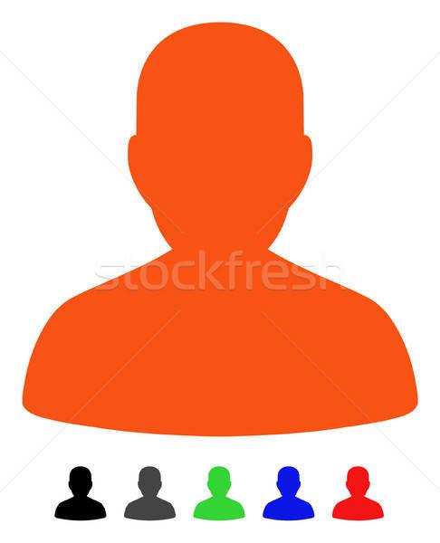 портрет икона вектора цвета черный Сток-фото © ahasoft