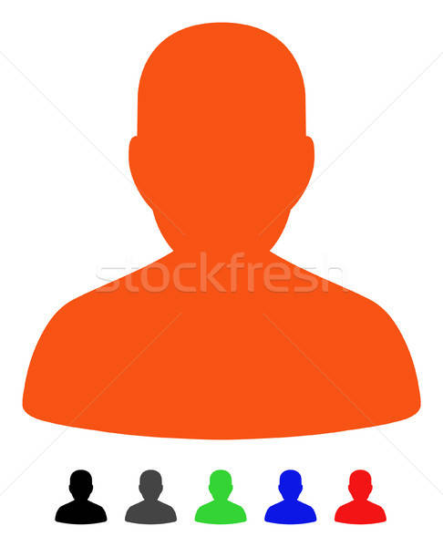 Portre ikon vektör renkli renk siyah Stok fotoğraf © ahasoft