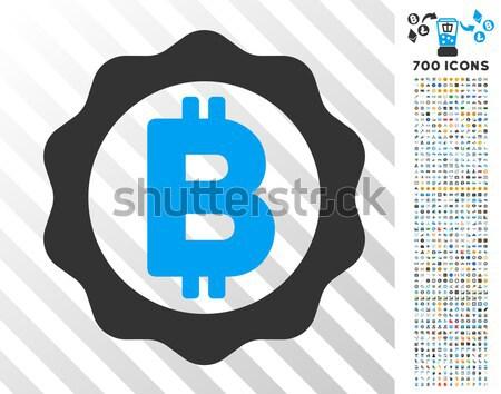 Bitcoin Options Gear Flat Icon Stock photo © ahasoft