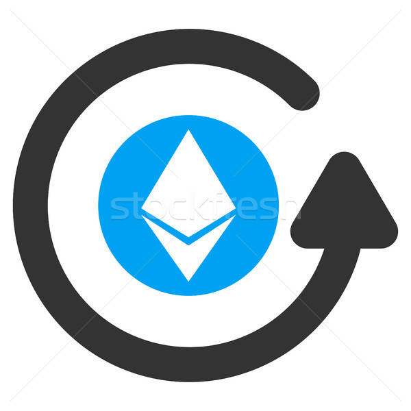Ethereum Chargeback Flat Icon Stock photo © ahasoft