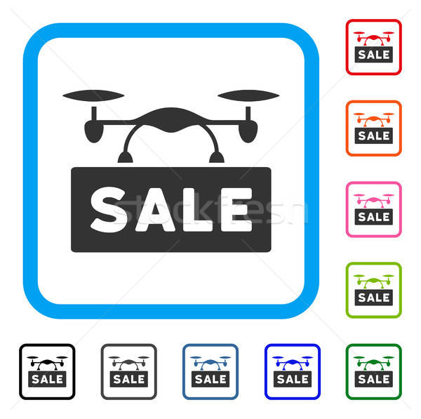 Airdrone Sale Framed Icon Stock photo © ahasoft