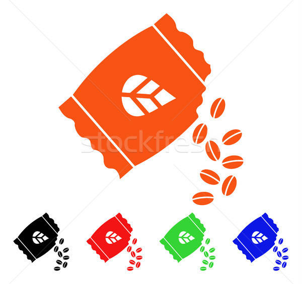Sow Seed Pack Vector Icon Stock photo © ahasoft