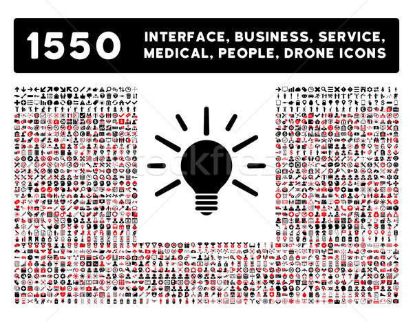 Light Icon and More Interface, Business, Tools, People, Medical, Awards Flat Glyph Icons Stock photo © ahasoft