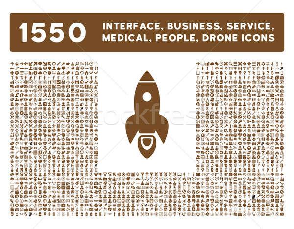Interfaz negocios herramientas personas médicos Foto stock © ahasoft