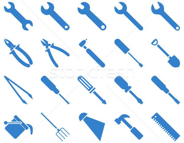 Uitrusting tools iconen vector ingesteld stijl Stockfoto © ahasoft