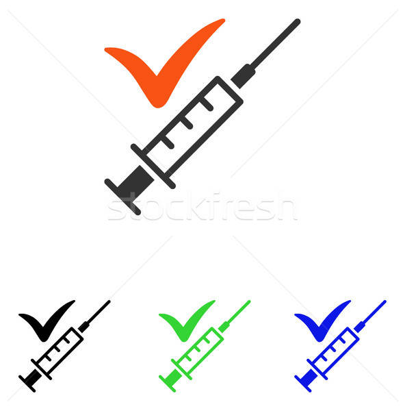 Done Vaccination Flat Vector Icon Stock photo © ahasoft
