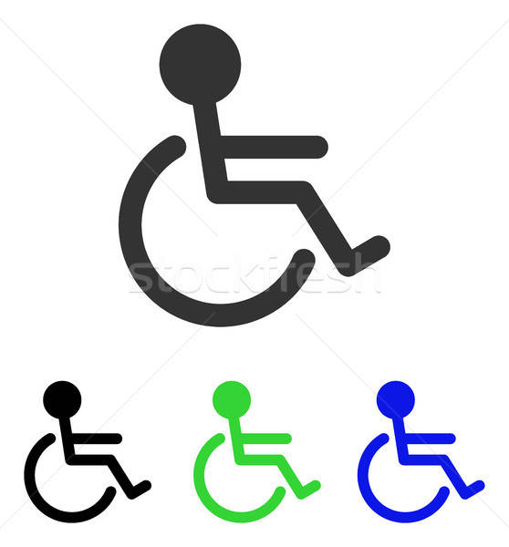 Handicapped Flat Vector Icon Stock photo © ahasoft