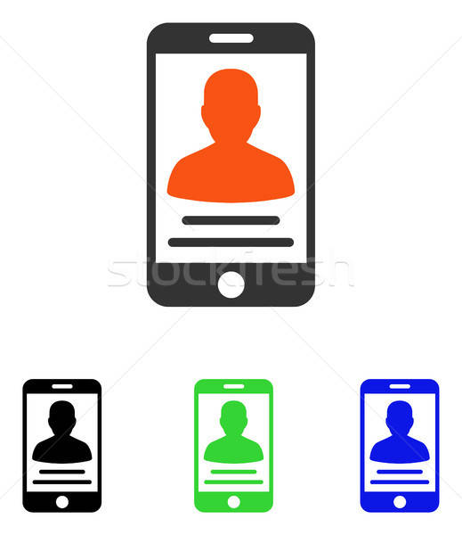 пациент мобильных счет вектора икона иллюстрация Сток-фото © ahasoft