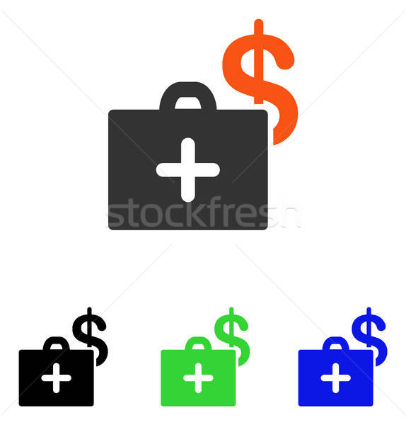 Medical Fund Case Flat Vector Icon Stock photo © ahasoft