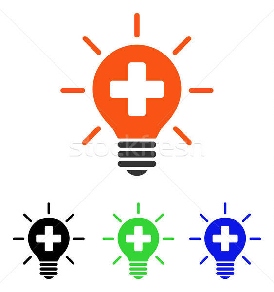 Medical Lamp Flat Vector Icon Stock photo © ahasoft