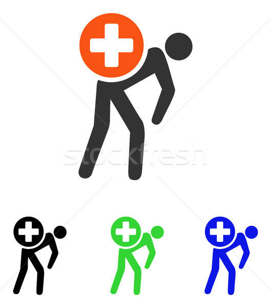 Medication Courier Flat Vector Icon Stock photo © ahasoft