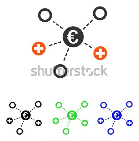 Medical Nodes Flat Vector Icon Stock photo © ahasoft