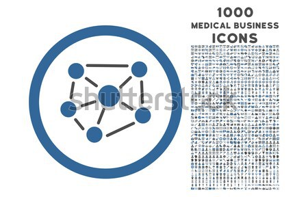 Rounded Medical Connections Flat Vector Icon Stock photo © ahasoft