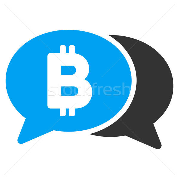 Stockfoto: Bitcoin · chat · icon · vector · toepassing · web · design