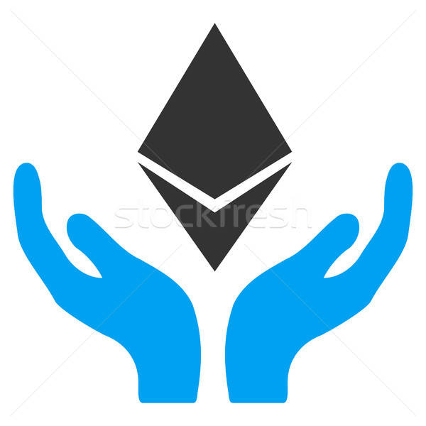 Ethereum Maintenance Hands Flat Icon Stock photo © ahasoft
