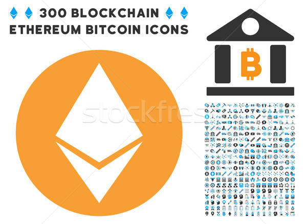 Ethereum Flat Icon with Stock photo © ahasoft