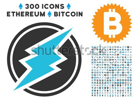 Stock photo: Ethereum Mining Pool Flat Icon with Collection