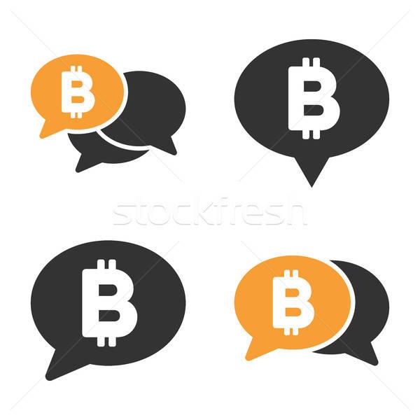 Bitcoin chat vecteur style affaires Photo stock © ahasoft