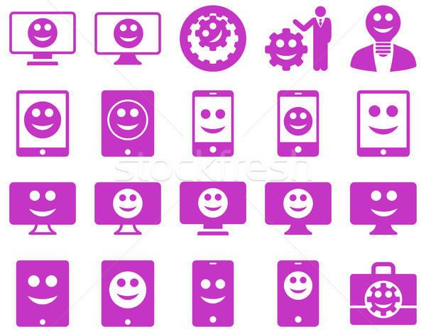 Strumenti opzioni sorrisi icone vettore Foto d'archivio © ahasoft