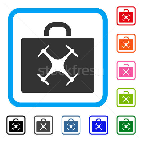 Drone Case Framed Icon Stock photo © ahasoft