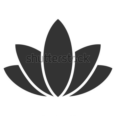 Lotus Flower Flat Icon Stock photo © ahasoft