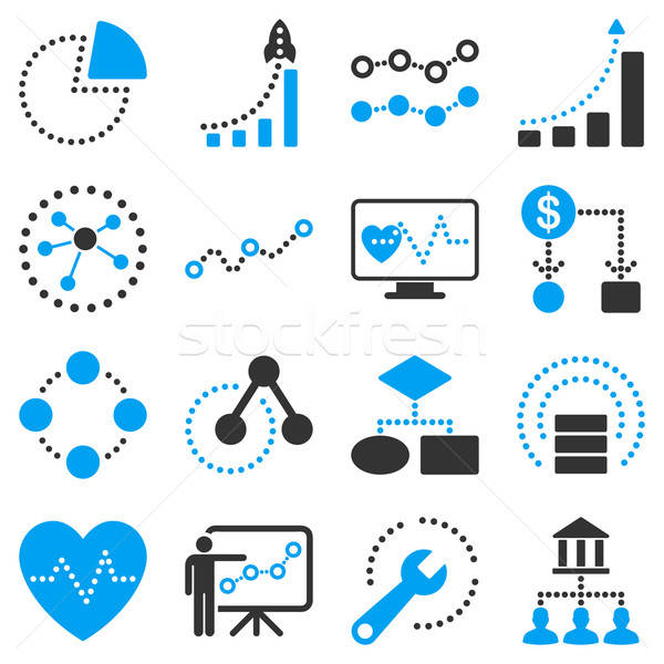 Dotted vector infographic business icons Stock photo © ahasoft