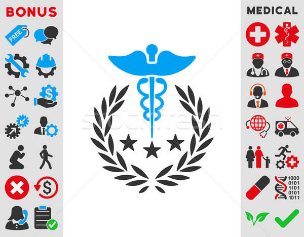 Caduceus Logo Icon Stock photo © ahasoft
