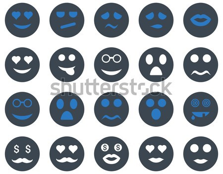 Foto stock: Ferramentas · emoções · smiles · mapa · ícones · vetor