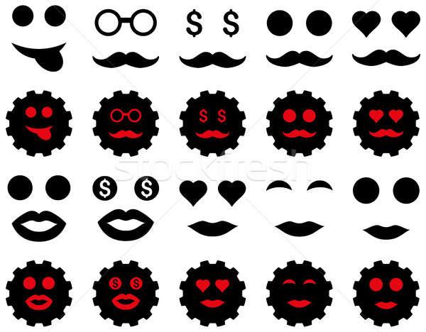Foto stock: Herramienta · artes · sonrisa · emoción · iconos · establecer