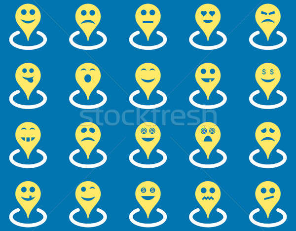 Smiled location icons Stock photo © ahasoft