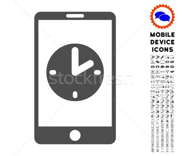 Mobil idő ikon gyűjtemény ikon digitális piktogram Stock fotó © ahasoft
