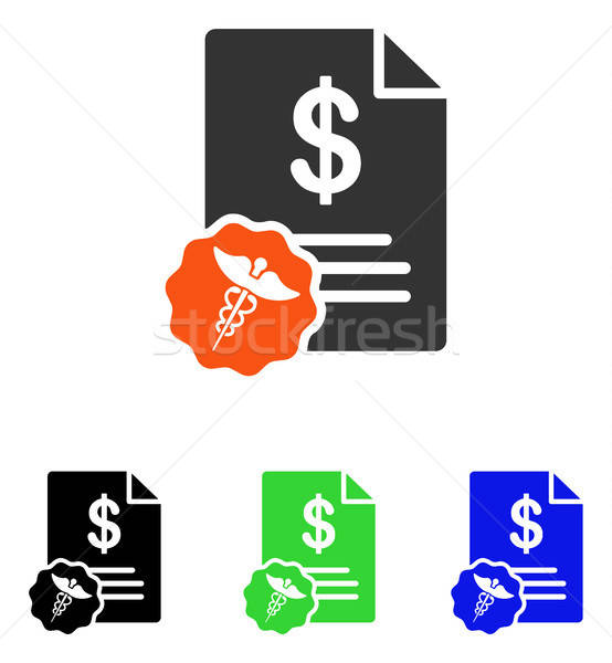 Medical Prices Flat Vector Icon Stock photo © ahasoft