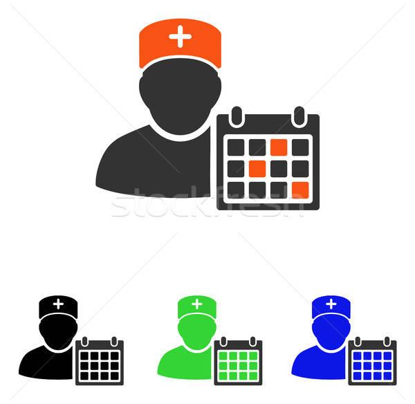 Doctor Calendar Flat Vector Icon Stock photo © ahasoft