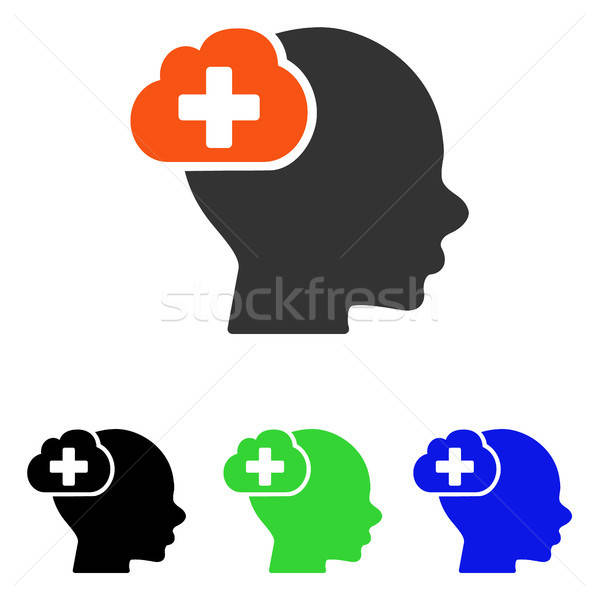 Medical Idea Cloud Flat Vector Icon Stock photo © ahasoft