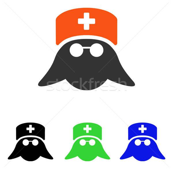 Tıbbi hemşire kafa vektör ikon örnek Stok fotoğraf © ahasoft