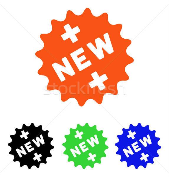 új orvosi matrica vektor ikon illusztráció Stock fotó © ahasoft