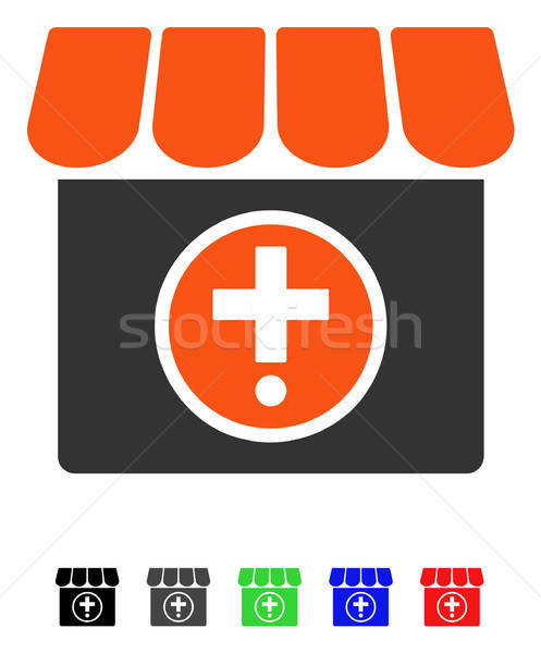 Drogist icon vector gekleurd kleur zwarte Stockfoto © ahasoft