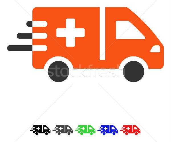 Emergency Car Flat Icon Stock photo © ahasoft