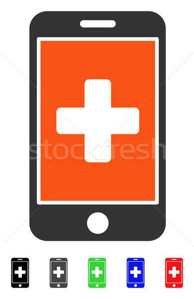 Mobiles médecine icône vecteur pictogramme Photo stock © ahasoft