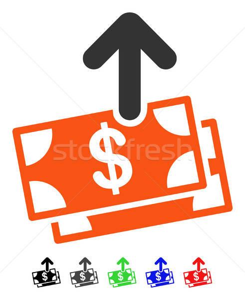 Spend Money Flat Icon Stock photo © ahasoft