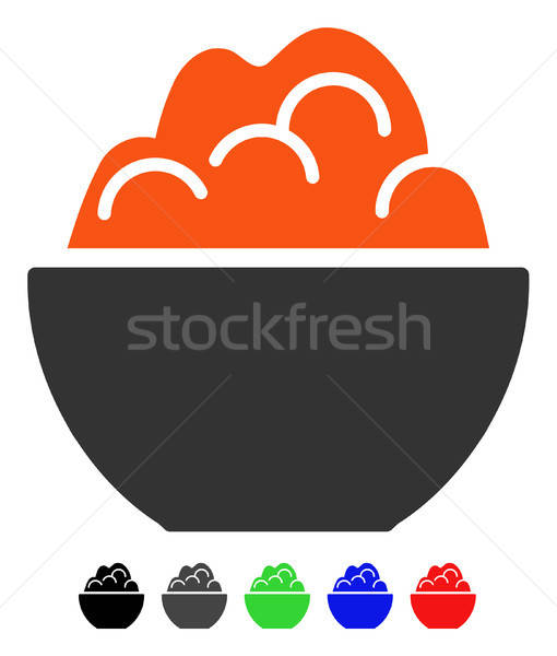 Porridge Flat Icon Stock photo © ahasoft