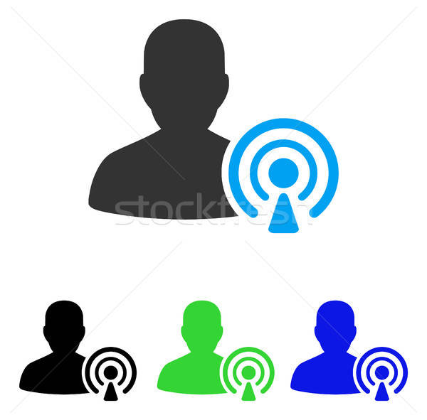 Podcast Creator Flat Icon Stock photo © ahasoft