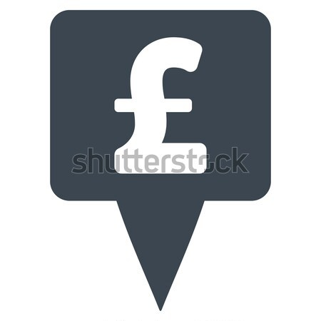 Pound Sterling Marker Flat Icon Stock photo © ahasoft