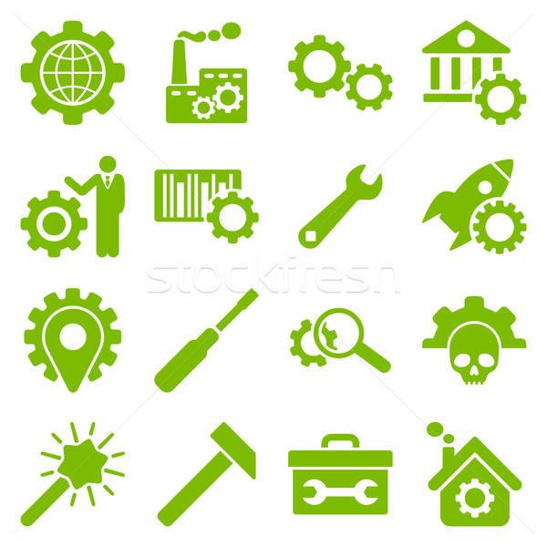 Lehetőségek szolgáltatás szerszámok ikon gyűjtemény vektor stílus Stock fotó © ahasoft