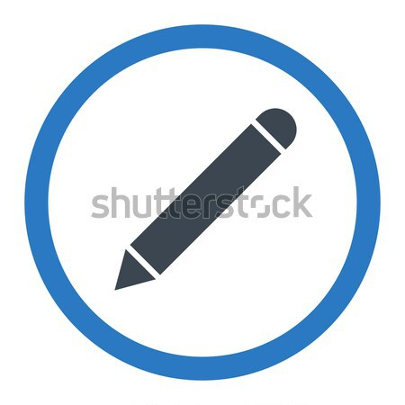 Pencil flat black color rounded vector icon Stock photo © ahasoft